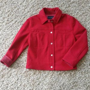 Express Wool Red Snap Jacket